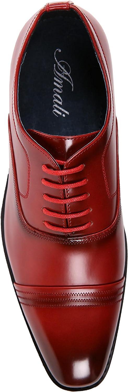 Amali The Original Burnished /& Smooth Oxford with Zig-Zag Stitched Detail Style Tomaso