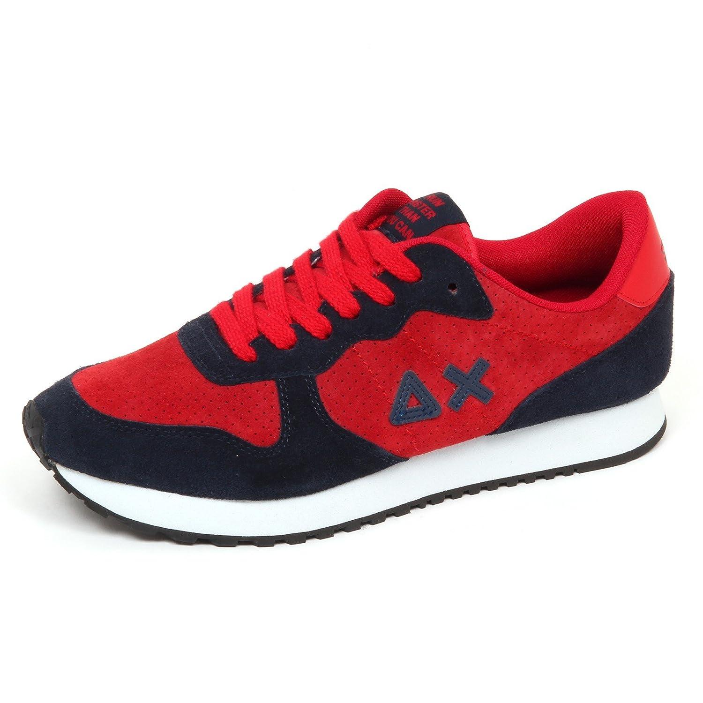 SUN 68 E2392 Sneaker Uomo Blu/Red Scarpe Suede Shoe Man 44 EU|blu/rosso