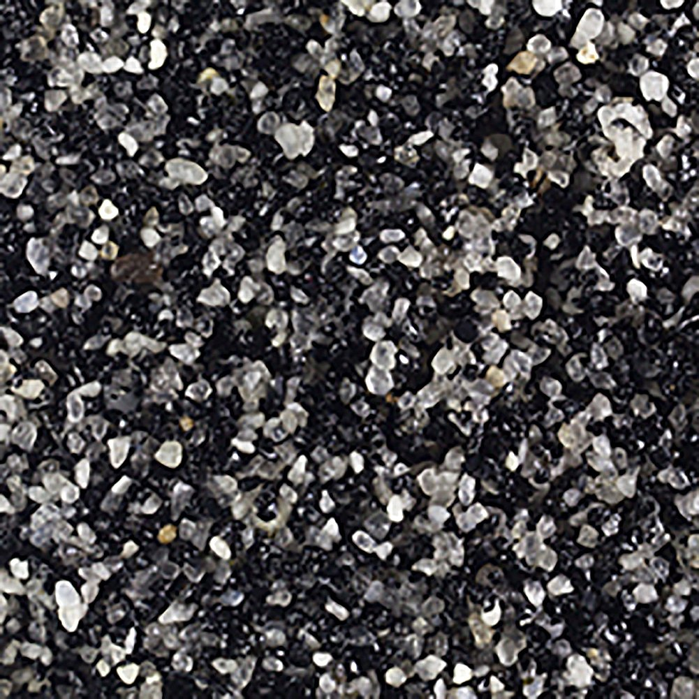 Safe & Non-Toxic (Various Size) 50 Pound Bag of Prewashed Sand Decor for Freshwater & Saltwater Aquarium w/ Modern Dark Speckled Charcoal Mixture Exotic Beach Style [Black, Gray & White]