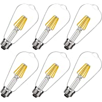 6-Pack Coowoo 6-watt E26 Dimmable LED Edison 2700K Warm White Light Bulbs (60-watt Equivalent)