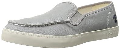Timberland Men's Newport Bay Moc Toe Slip-On Fashion Sneaker, Sleet Washed,  7.5