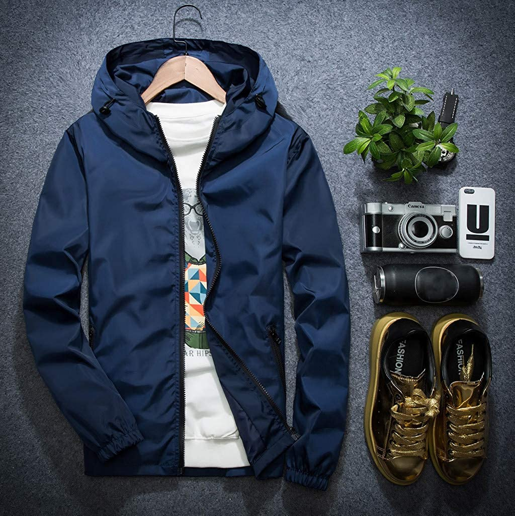 ODRD Herren Pullover Hoodie M/änner Pulli Sweatshirt L/ässige Reine Farbe Zipper Outdoor Sports Daunenjacke Jacke Parka Sweatjacke Sweater Kapuzenpulli Hooded Outwear Clearance Sale M-7XL