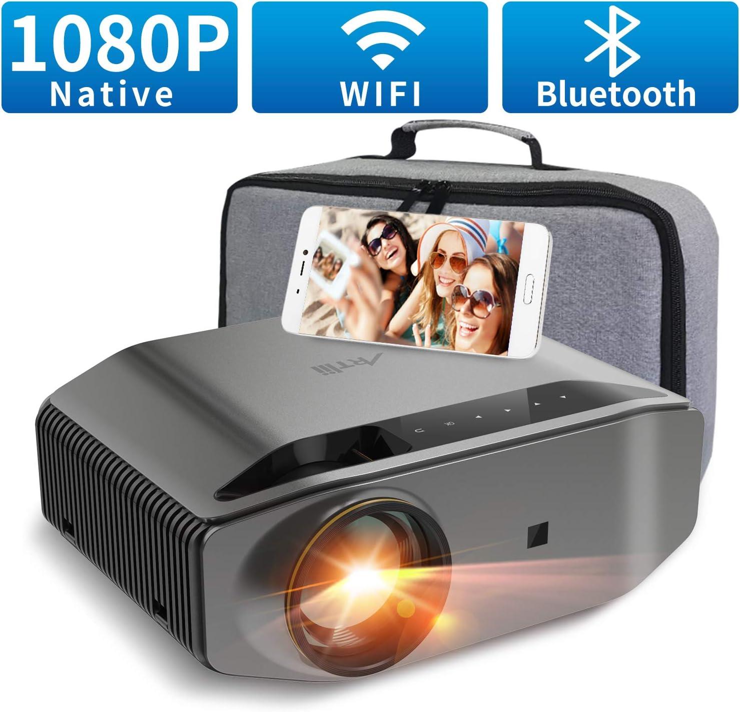 Proyector WiFi Bluetooth 8000 Lúmenes, Artlii Energon 2 Proyector Full HD 1920x1080P Nativo Soporta 4K, 300