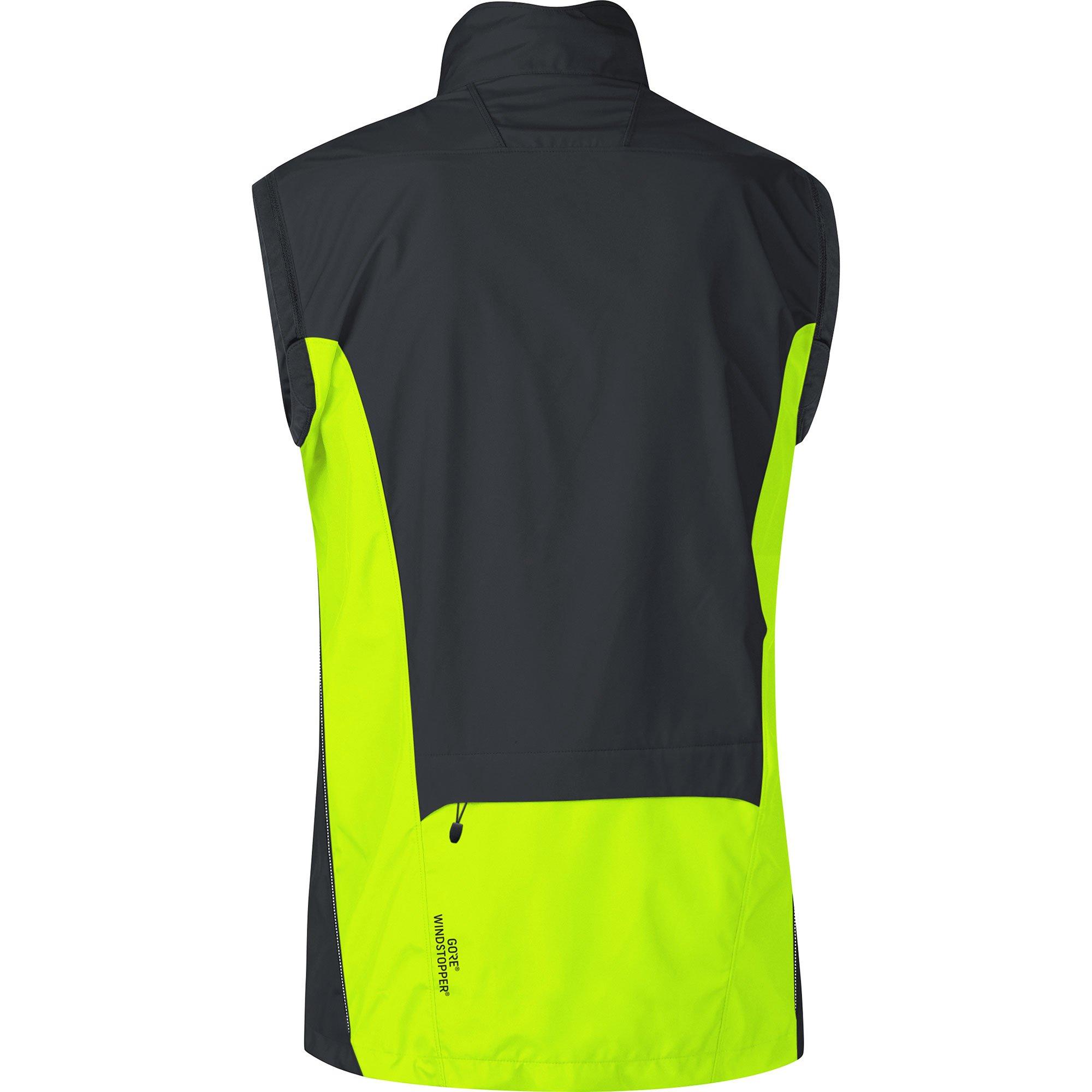 Gore Bike WEAR Men's Cycling Jacket, Super Light, Gore Windstopper, Jacket, Size: S, Black/Neon Yellow, JWELMZ by GORE WEAR (Image #4)