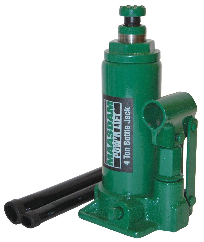 Maasdam MPL4B Bottle Jack, 4 Ton, Green