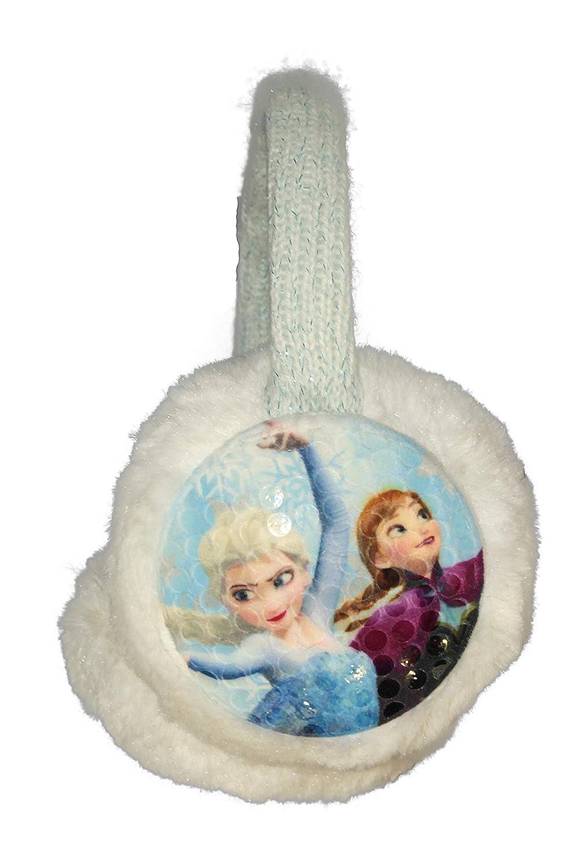 Disney Kids Girls Children Frozen White Blue Earmuffs Winter Ear Warmer Ear muff