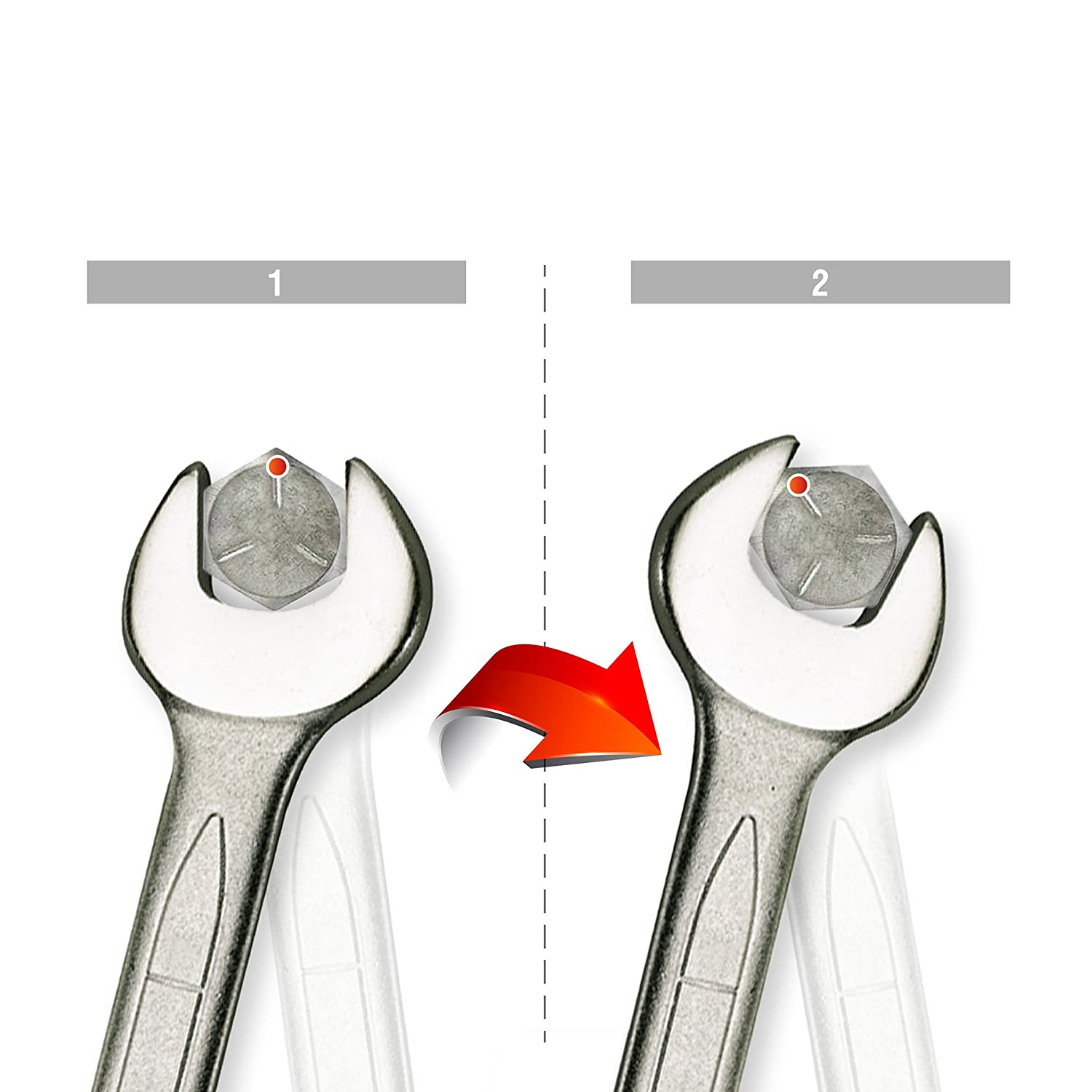 TengTools Combination Spanner with Reversible Ratchet 22/mm
