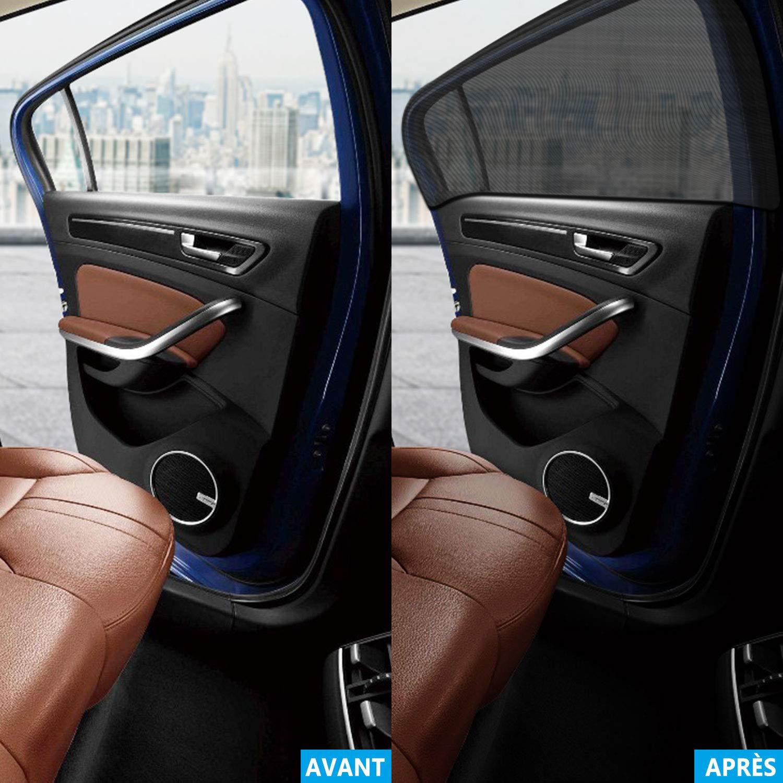 Lanpard Tendine Parasole Auto per Finestrino Laterale,2 Pezzi-Tendine Parasole Auto,Facil Installazione,Protezione Privacy e Block Raggi UV400,Anti-zanzara e Antipolvere