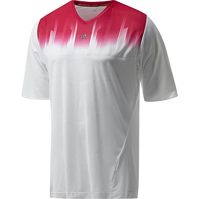 Camiseta de entrenamiento Adidas de Messi para hombre, con tecnología Climacool, color blanco y rosa, White, with pink feature, large: Amazon.es: Deportes y ...