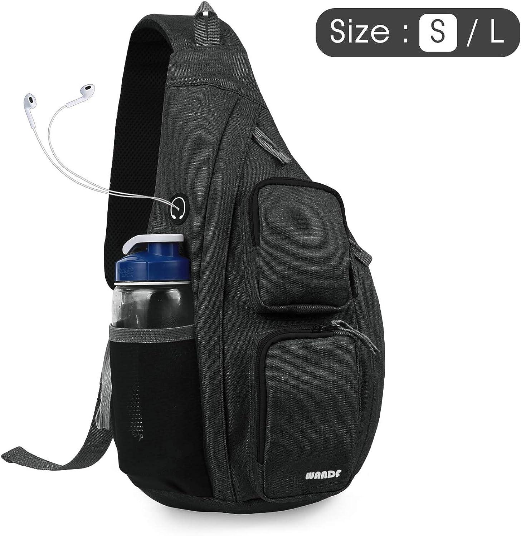 WANDF Sling Bag One Strap Backpack Travel Crossbody Backpack Water-Resistant