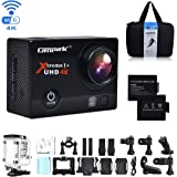 Campark 4K WIFI Action Camera 30M Underwater Camera 16MP Waterproof Sports Camera With 2.0 Inch LCD Screen 170° Wide Angle (Included - Portable Case + 2 Batteries)