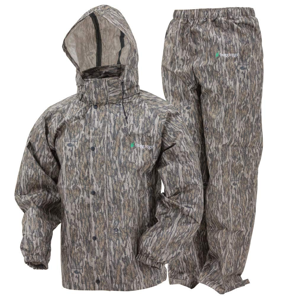 Frogg Toggs Frogg Toggs All Sport Rain Suit, Mossy Oak Bottomland, Size Small All Sport Rain Suit, Mossy Oak Bottomland, Small