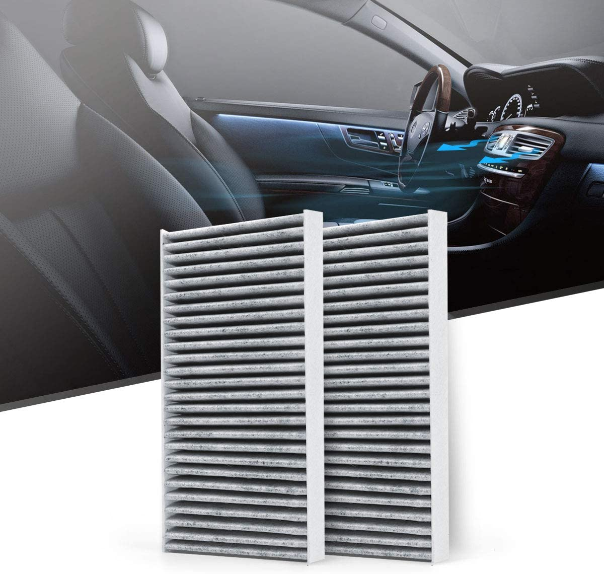 CF10135 includes Activated Carbon Replacement for Honda//Acura KAFEEK Cabin Air Filter KA10135