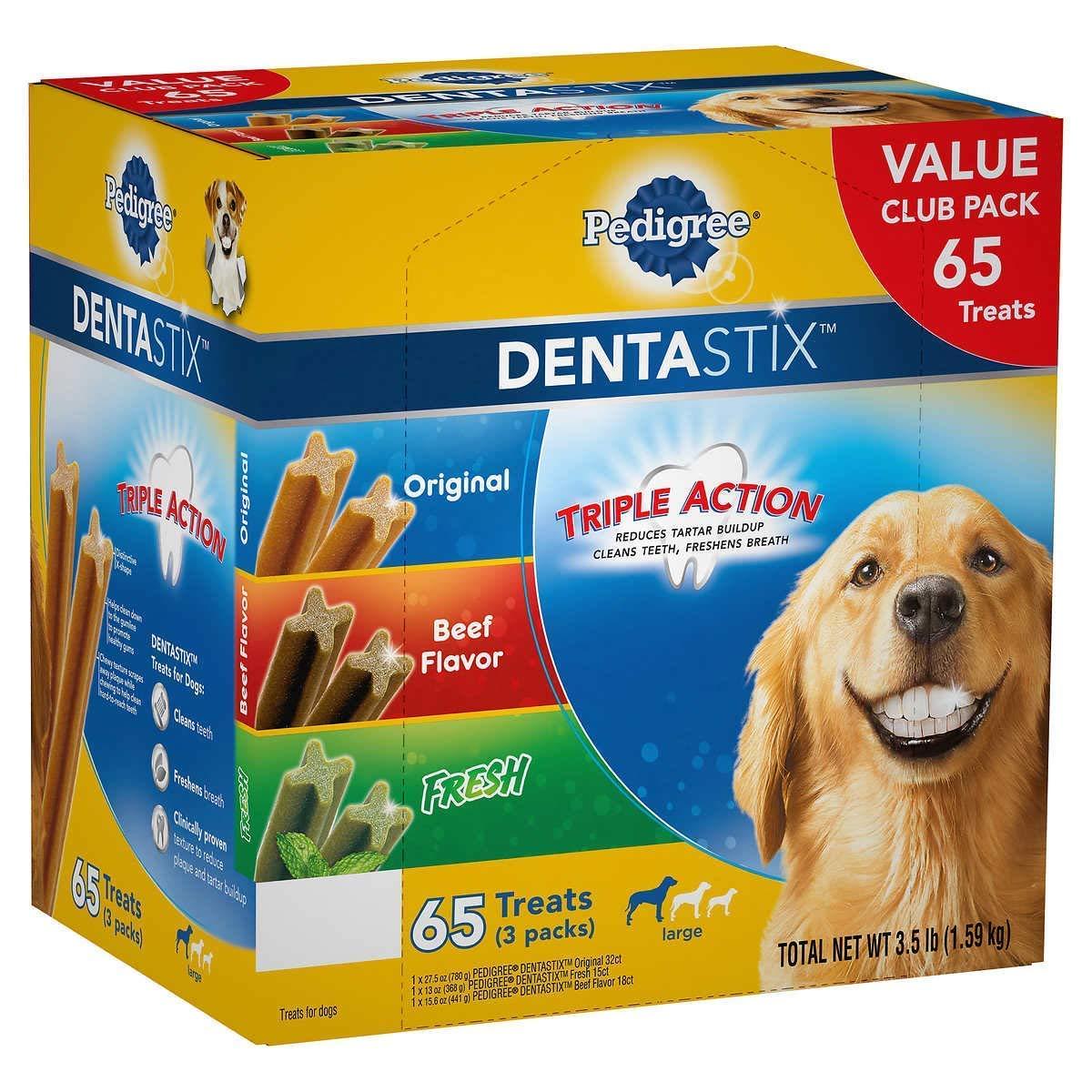 Pedigree Dentastix Treats Variety Pack (65Count/ 3.5 Lbs), 3.5 Lb by Pedigree