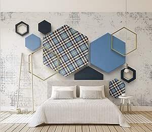 ورق جدران ثلاثي الابعاد بديل الجبس والرخام الهندسي   - ورق حائط مقاس 4X3