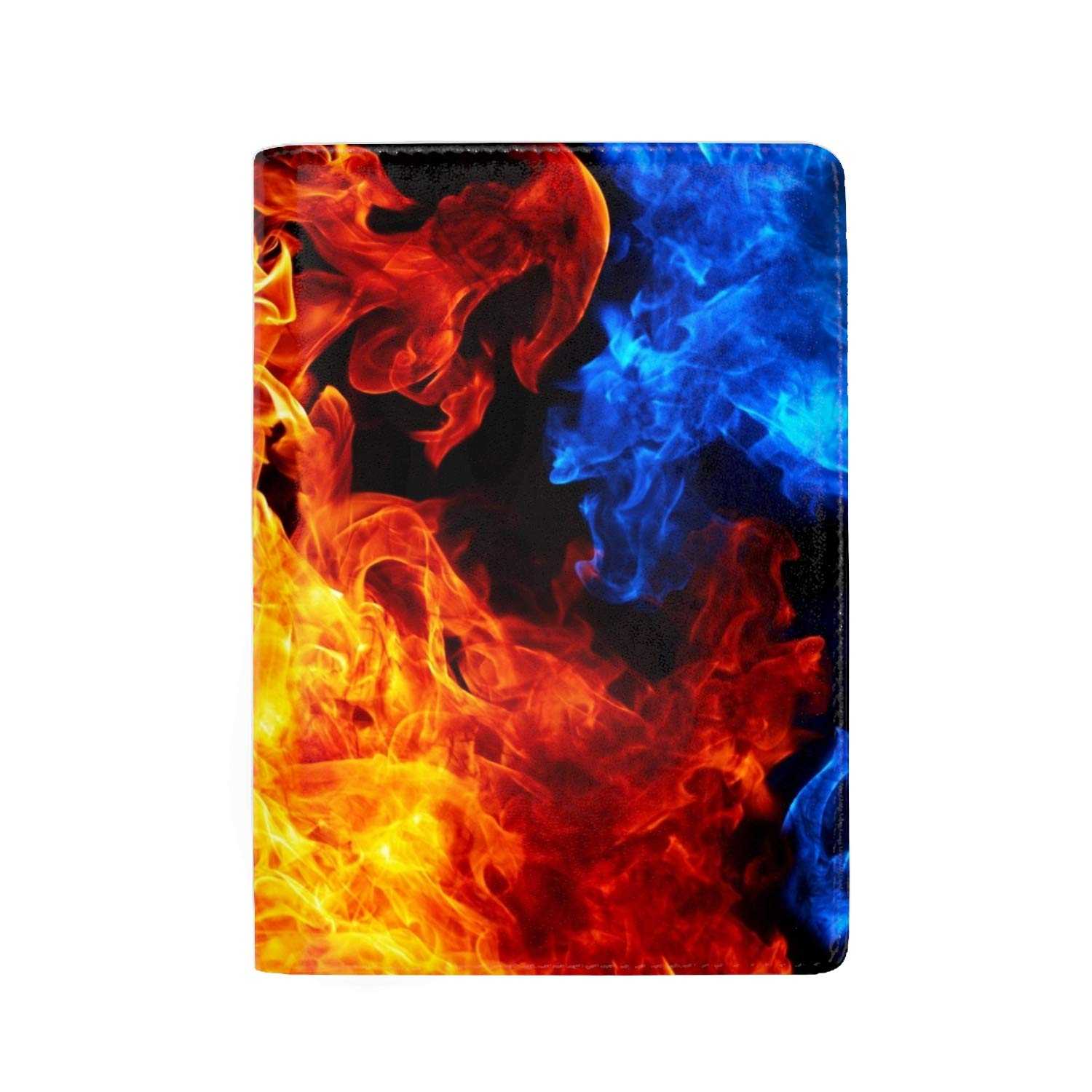 RFID Blocking Genuine Leather Passport Case Cover Holder Travel Wallet Ice And Fire