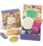 Natural Life Gift Set Small Floral Happy Box Thankful & Grateful with Boho Bandeau and More!