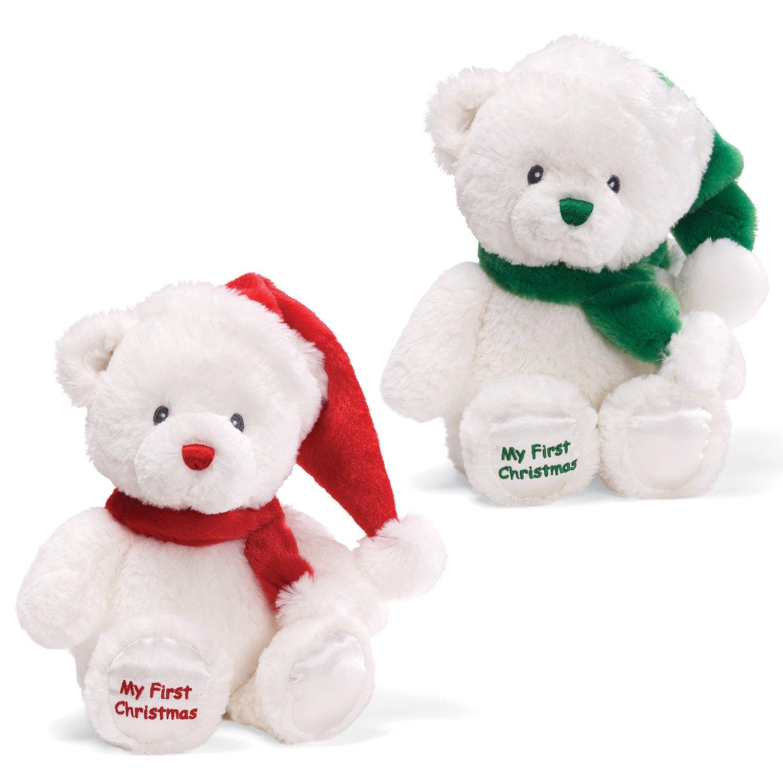 amazoncom gund christmas my first christmas 10 plush redgreen toys games - Christmas Plush Toys