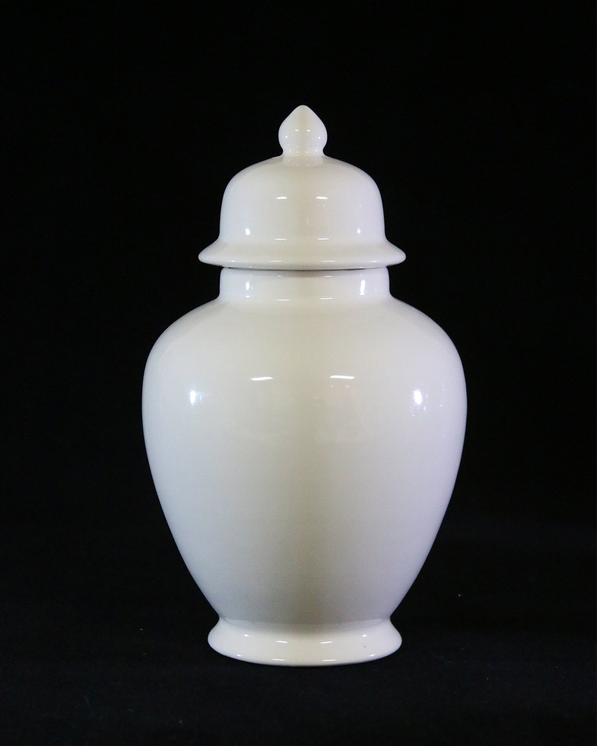 Handcrafted Ceramic Urn - Ivory -113 cu in - Various Colors and Sizes Available, Cremation Urn for Ashes, Pet Urn