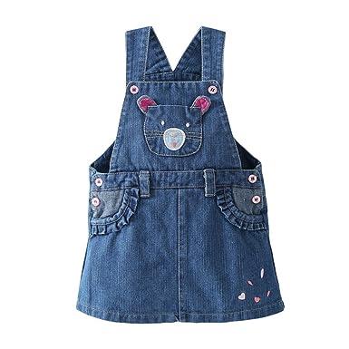 238610f2229 Amazon.com: YueLian Little Girls Cartoon Summer Denim Overalls Strap ...