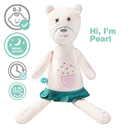 myHummy Pearl White Noise Teddy Bear