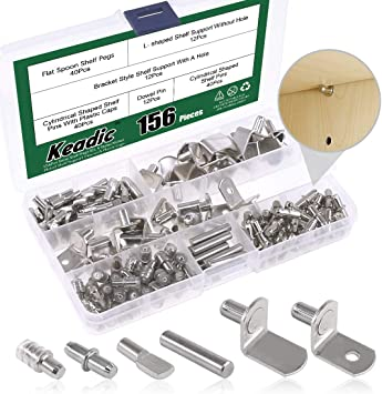 5mm Shelf Support Pegs with Plastic Caps Cabinet Furniture 100 Packs Shelf Pins