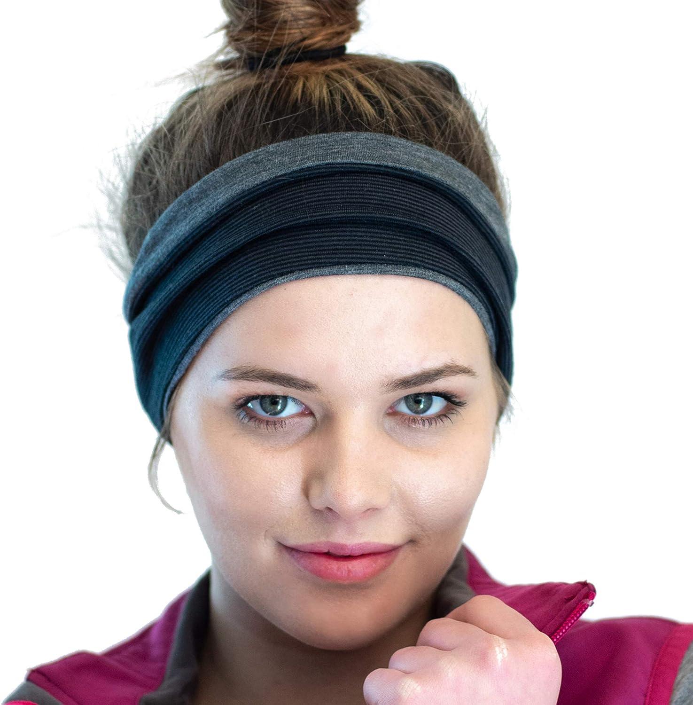 Reversible Ear Warming Sports Headband Merino Wool Blend Headband Winter Headwear for Active Women Perfect for Cold Weather Running