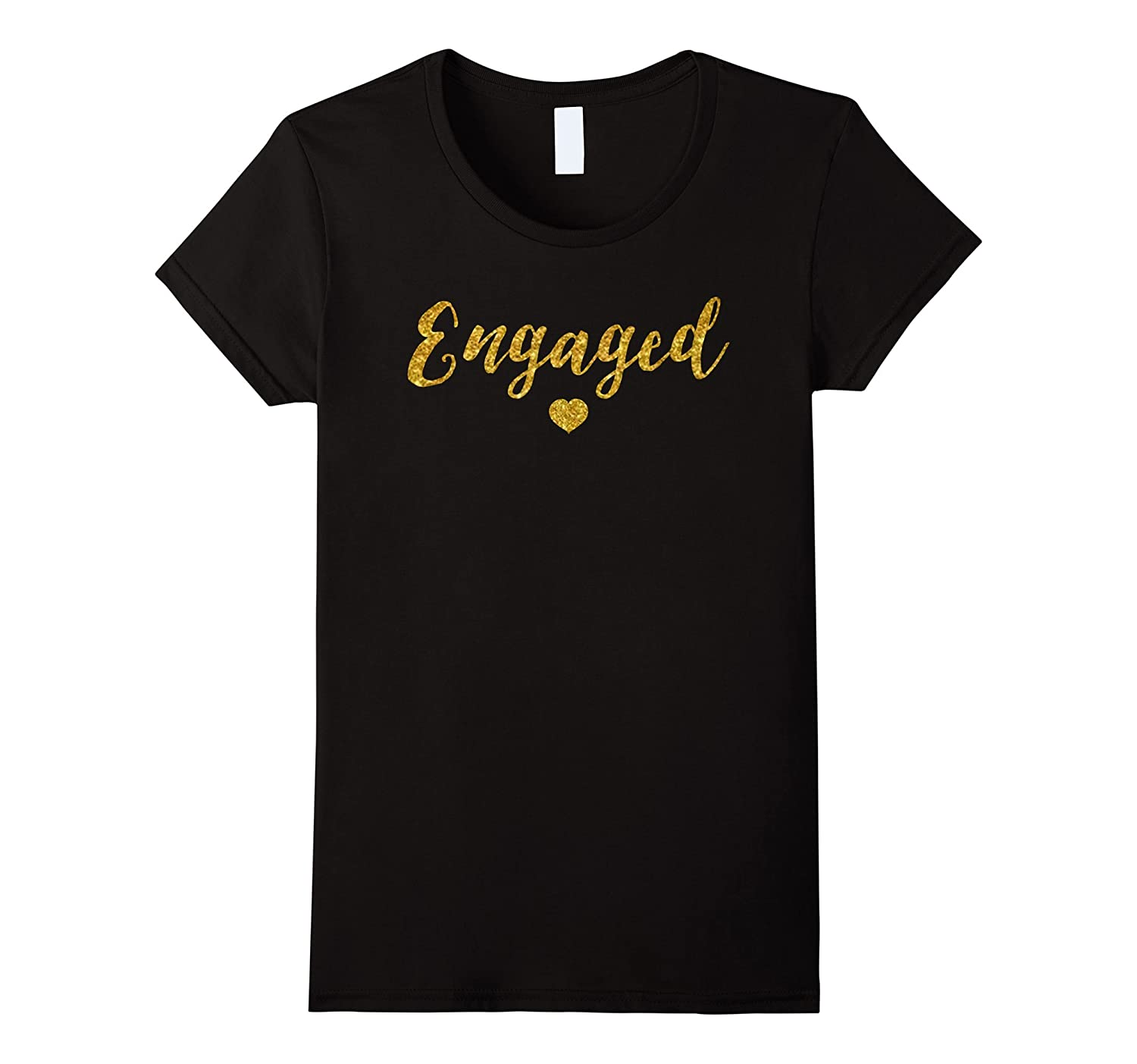 c389cd612 Amazon.com: Engaged Shirt, Fiance Engagement Just Married Couples Tees:  Clothing