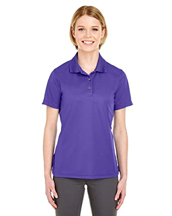 86dc256d UltraClub Cool & Dry Women's Moisture Wicking Polo Shirt, Purple at ...