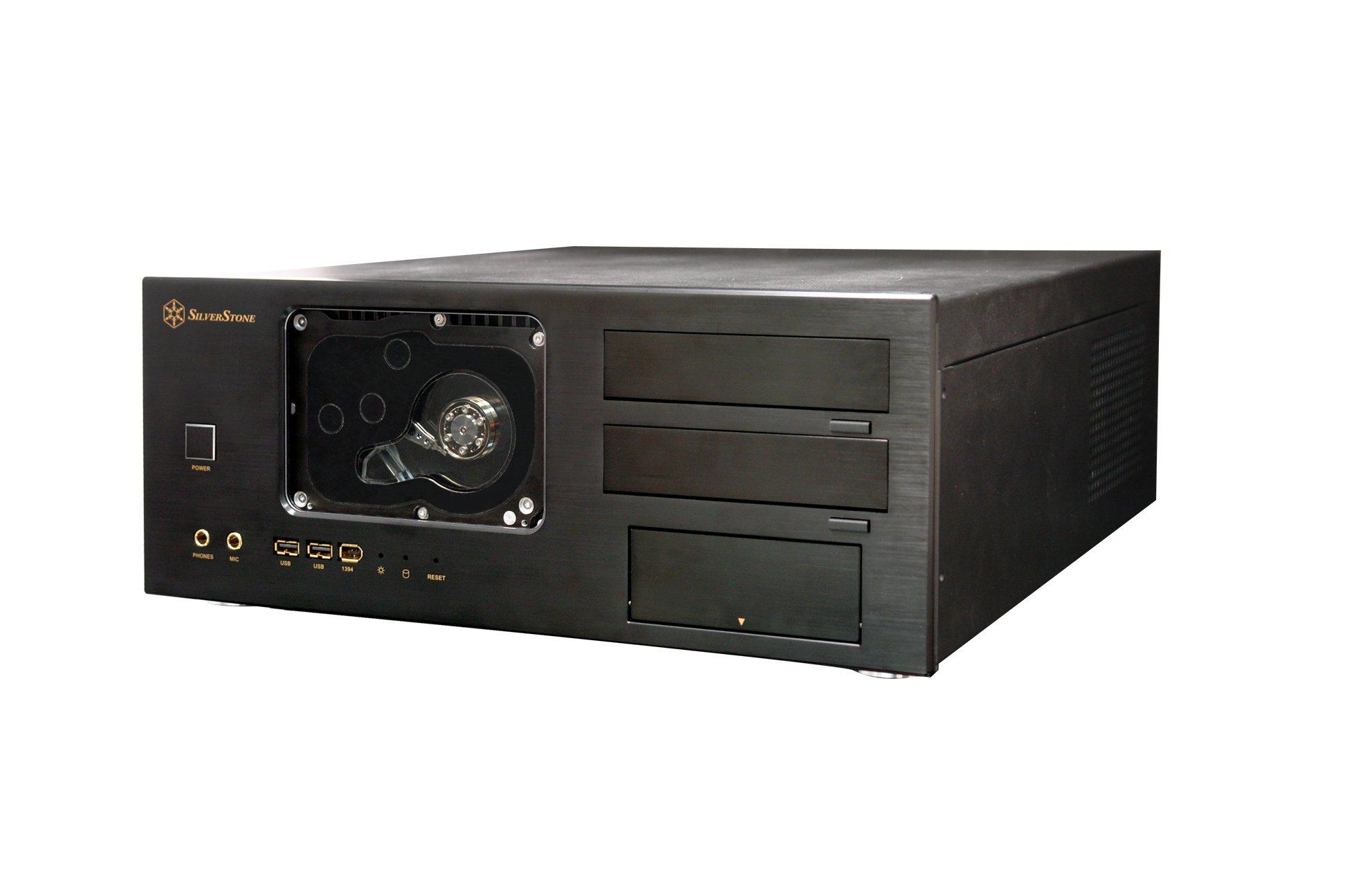 SilverStone CW01-B-WDR Aluminum ATX Media Center/HTPC Case - Retail (Black) by SilverStone Technology