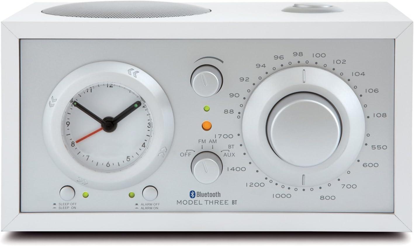 Tivoli Audio Three Bluetooth Ukw Mw Radiowecker In Weiß Silber Audio Hifi