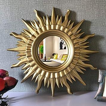 Amazonde Zenggp Große Sonnenblume Wandspiegel Blattgold
