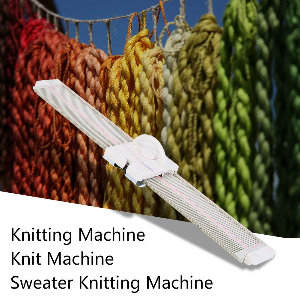 LK150 6.5mm Mid Gauge Plastic Domestic Knitting Machine Includes Yarn Needles Accessories for Adults/Kids by Walfront (Image #8)