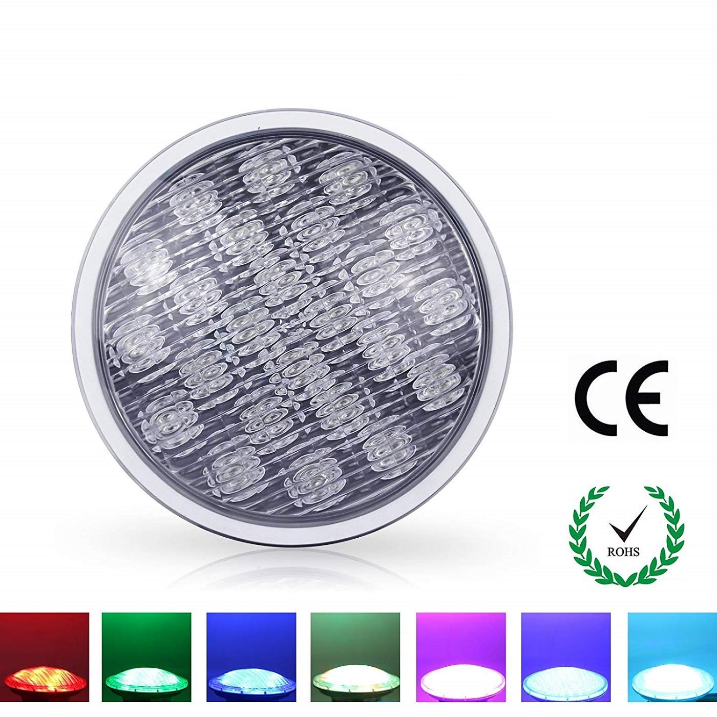 Roleadro Pool Lights Par56 21W RGB Color Changing LED Pond Lights AC12V IP68 with Remote Control for Swimming Pool Lighting Pool Niche