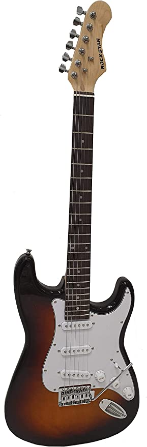 Guitarra electrica tipo strato Rockstar SST111 RW SB color sunburst diapason palisandro - Rockmusic: Amazon.es: Instrumentos musicales