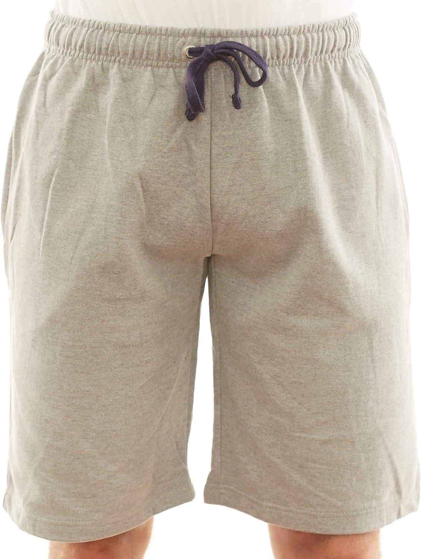 New York Avenue NYA Mens Cotton Elastic Active Jogger Gym Shorts Three Pockets