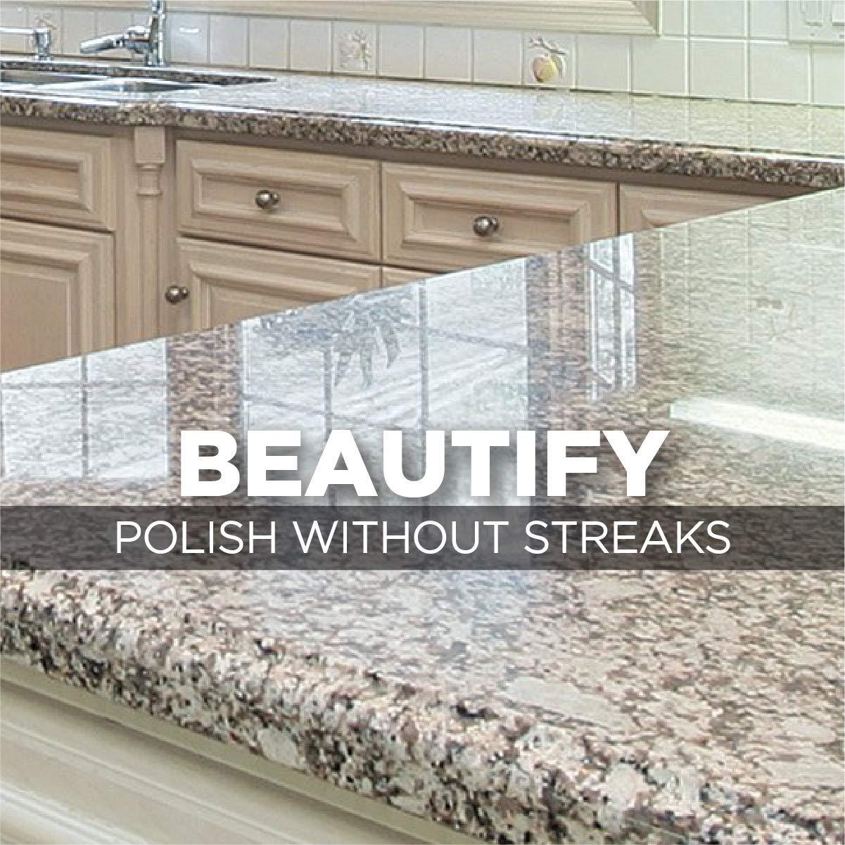 Weiman Granite Cleaner and Polish - 17 Ounce - For Granite Marble Soapstone Quartz Quartzite Slate Limestone Corian Laminate Tile Countertop and More