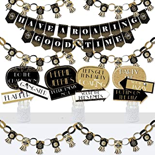 product image for Big Dot of Happiness Roaring 20's - Banner and Photo Booth Decorations - 1920s Art Deco Jazz Party Supplies Kit - Doterrific Bundle