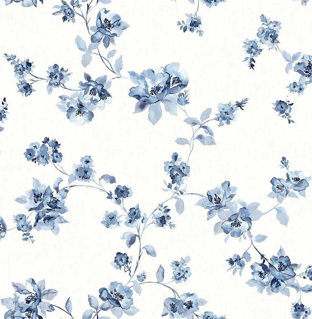 Chesapeake 3115 24481 Cyrus Floral Wallpaper Blue Amazon Com