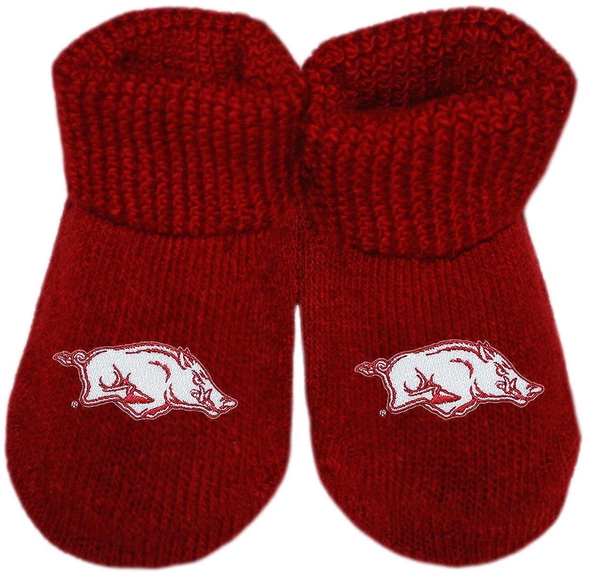 University of Arkansas Razorbacks Newborn Baby Bootie Sock