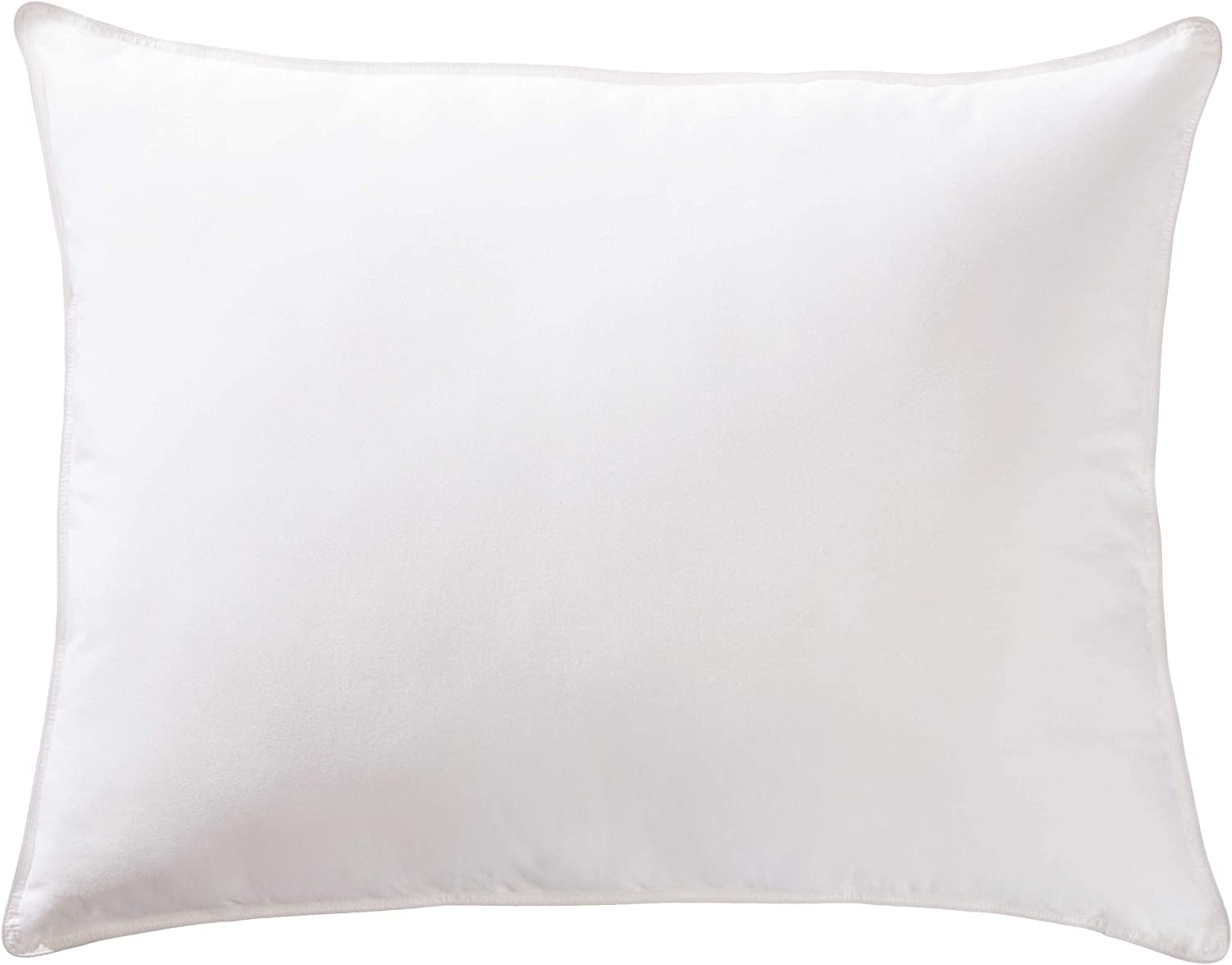AmazonBasics Deluxe Down-Alternative Pillow with Cotton Shell - Soft Density, Standard