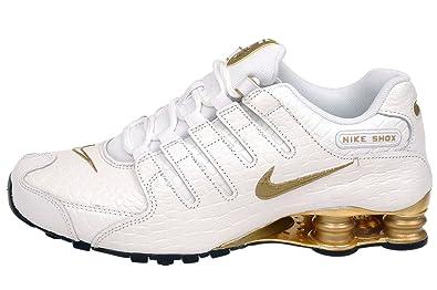 Nike Herren Shox NZ PA, weißmetallisch, goldenweiß