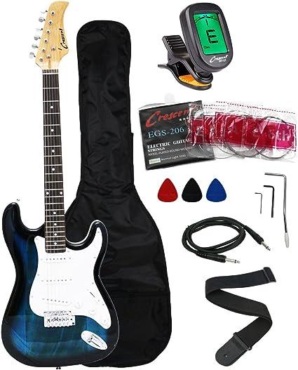 Crescent EG-PUM - Paquete de iniciación de guitarra eléctrica de ...
