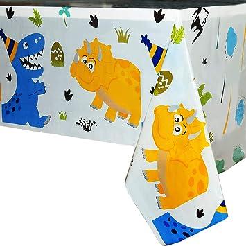 WERNNSAI Mantel del Dinosaurio - Suministros para la Fiesta de Dinosaurio para Niños Muchachos Cumpleaños Boda Baby Shower Decoración, 2 Piezas Mantel ...