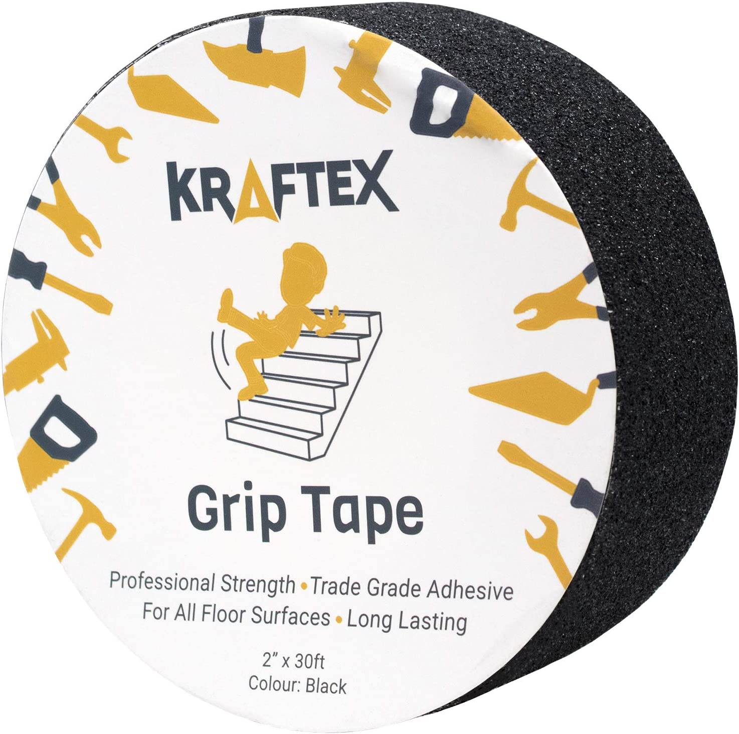 """Grip Tape for Stair Nosing Indoor Stairs /& Outdoor Stair Treads Non-Slip Tape and Skateboard Tape. Anti Slip Grip Tape 4/"""" Black Non Slip Friction Tape Great Stair Runners for Wooden Steps /& Stairs"""