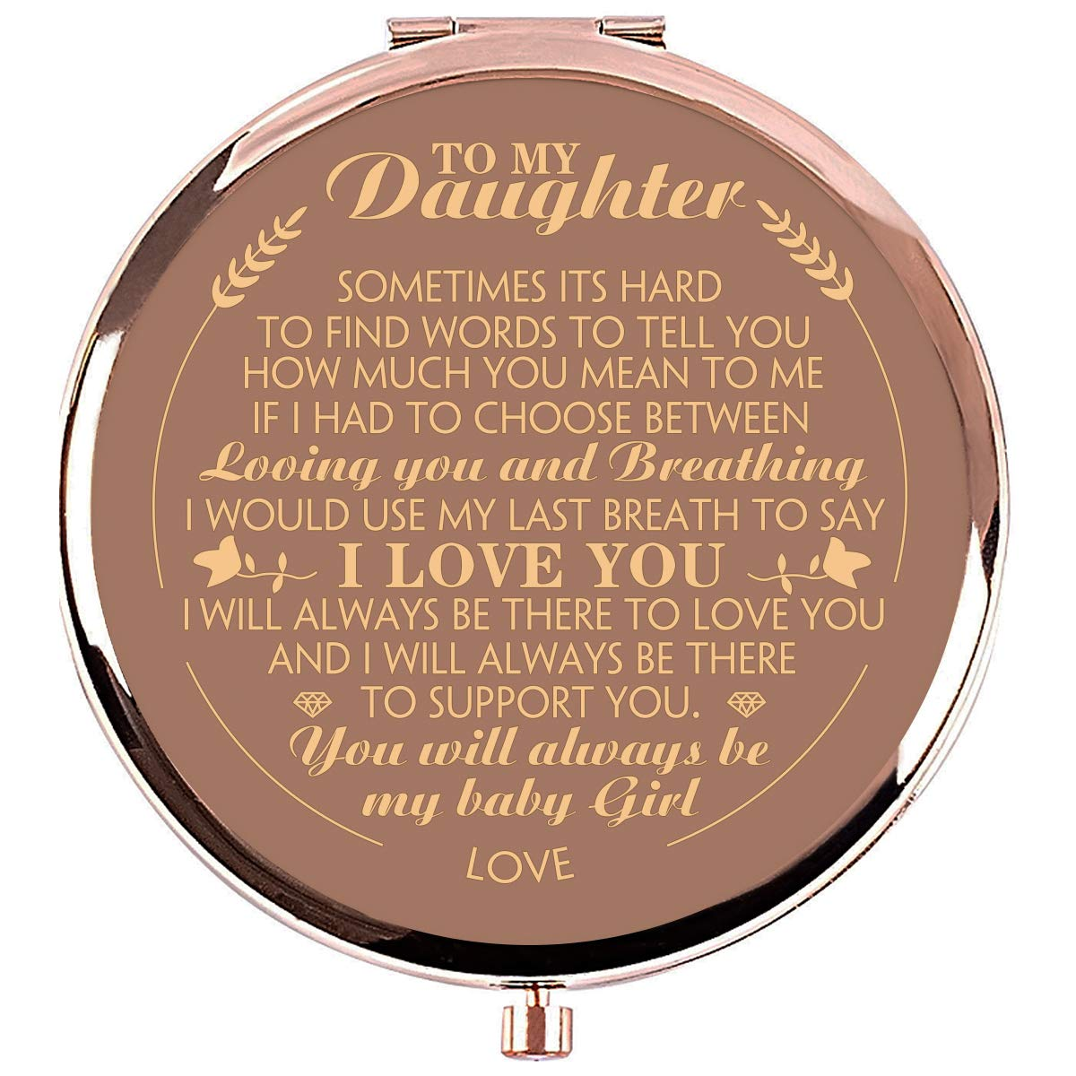 Ueerdand Daughter Gifts from Mom and Dad, Unique Birthday Gift Ideas for  Daughter, Graduation Gifts for Her, Present for Women Girls, Rose Gold  Purse