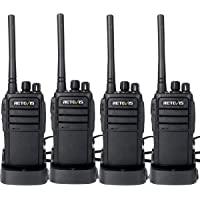 Retevis RT21 Walkie Talkies Rechargeable 16 Channels FRS License-Free 2 Way Radios(4 Pack) with Programming Cable