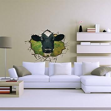 WVX3d (verkaufen Hinreißend Kuh) Aufkleber Tapete Zimmer Wohnzimmer Mit  Sofa Tv Hintergrund Hd Selbstklebende