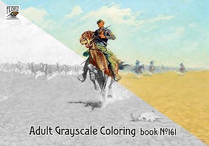 Amazon Com Adult Coloring Book 24 Pages 8 X11 A4 Cowboys