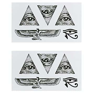 COKOHAPPY Temporary Tattoo (set,of 2), Egypt Eye of Horus Tribal